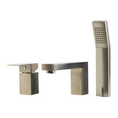 ALFI brand AB2322-BN Single Lever Tub Filler Bath Faucet in Brushed Nickel
