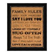 """Family Rules"" Cork Board"