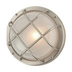 "39456 SS Bulkhead Marine Outdoor Ceiling/Wall Light, 8""x4""x8"""