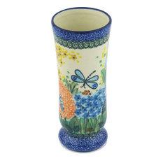"""Polmedia Polish Pottery 7"""" Stoneware Vase"""