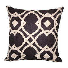 Lynx Square Polyfill Insert Throw Pillow With Cover, Black, 16x16