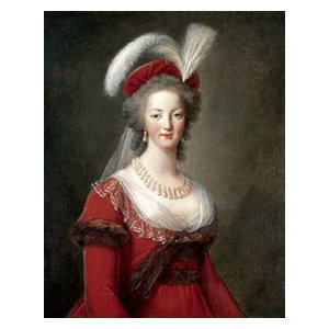 Louise Brun Marie Antoinette with Rose Giclee Paper Print Poster