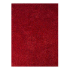 """Illustrations Shag Area Rugs, Red, 7'6""""x9'6"""""""
