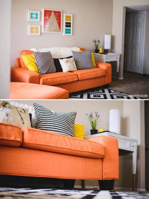 replacement kivik sofa covers in kino orange fabrics. Black Bedroom Furniture Sets. Home Design Ideas