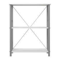 A Design Studio Devon 3 Shelf Bookcase in White