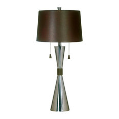 Most popular stainless steel table lamps for 2018 houzz kenroyhome bella 2 light table lamps brushed steel table lamps aloadofball Choice Image