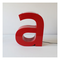 Reconditioned vintage letter light - letter a