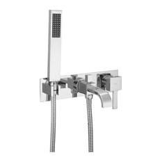 H-Duo Wall Mounted Tub Set With Hand Spray And Easy Box Installation
