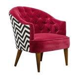 Velvet Jazz Tub Chair - Crimson