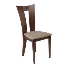 Flash Furniture - Flash Furniture Contemporary Dining Chair, Walnut - Dining Chairs