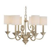 Capital Lighting Fifth Avenue 6-Light Chandelier, Winter Gold