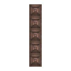 Victorian Panelling Wallpaper, Dark Oak