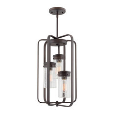 """Kira Home Augustine 20.5"""" Ceiling Pendant Chandelier, Free Swinging Arms, Glass"""