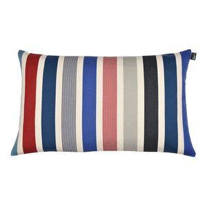 Garlin Rectangular Cushion, Light Blue Ends
