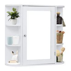 Costway Multipurpose Mount Wall Surface Bathroom Storage Cabinet Mirror