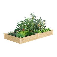 "Greenes Original Cedar Raised Garden Bed, 4'x8'x10.5"""