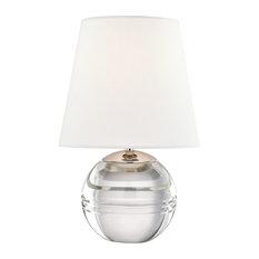 Nicole 1-Light Table Lamp, Polished Nickel