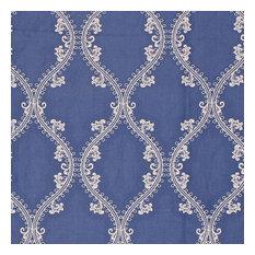 """Oakville Trellis Cornflower Fabric, 9""""x9"""""""