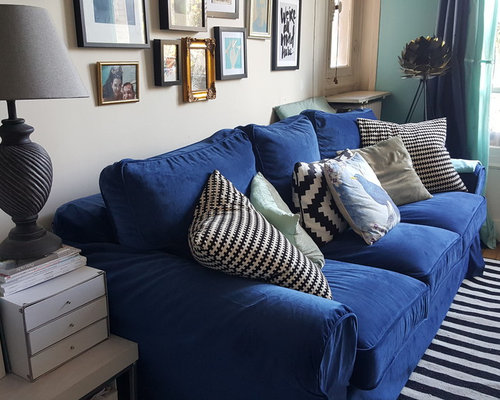 Custom IKEA Ektorp Sofa-bed slipcovers in velvet