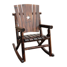 Leigh Country   Char Log Star Single Rocker I   Outdoor Rocking Chairs