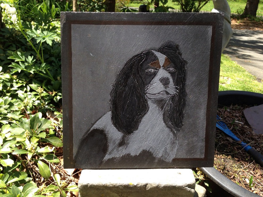 Stone Tile: Pet Memorial & Commemorative stone- Art in the Garden