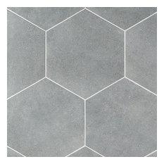 Klyda Graphite 12.6  x 14.5  Hexagon Porcelain Floor and Wall Tile (10.51 sqft)