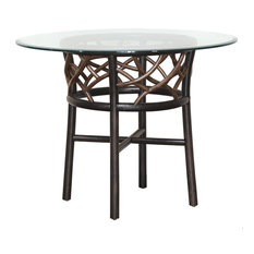 Panama Jack Sunroom - Panama Jack Trinidad Stackable Dining Base With Glass - Outdoor Dining Tables