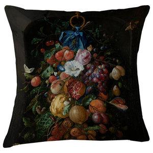 Velvet Tableau Cushion, Pomegranate