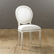 Oval Louis Side Chair with Pewter Nailheads