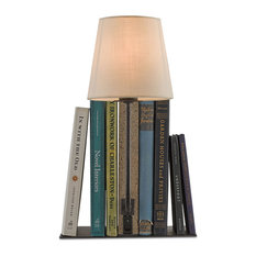 Oldknow 1 Light Table Lamp in Polished Concrete And Aged Steel