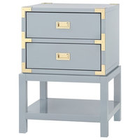 Bungalow 5 Tansu 2-Drawer Side Table - Gray