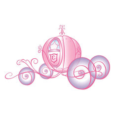 Disney Princess Cinderella Carriage Self Stick Wall Accent