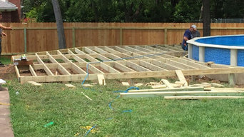 600 square foot cedar deck with benches and built in storage