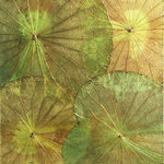 Asian Art Imports - Real Lotus Leaf Wall Hanging Yellow Green - This beautiful wall hanging is made with actual lotus leaves that are skillfully dyed and placed creating this organic contemporary piece. It's a brilliant way to bring a splash of color and nature into the home. Each piece is unique and the piece you receive may vary from the photo. It's bracketed to hang vertically but can easily be hung horizontally should you choose to do so.
