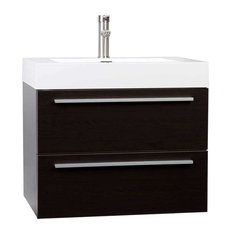 "ConceptBaths 26.75"" Single Bathroom Vanity Set, Espresso"