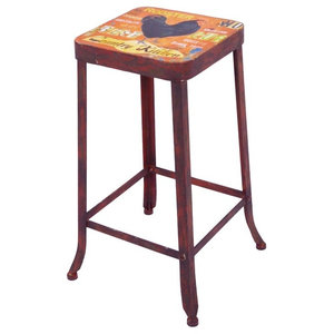 Country Rooster Bar Stool