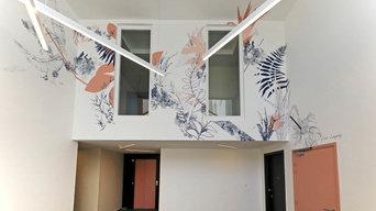 PARKVIEW - création de fresque pour les halls d'une nouvelle résidence