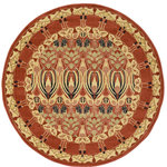 Unique Loom - Unique Loom Carnation Edinburgh, Rust Red, 6'x6', Round - The classic look of the Edinburgh Collection is sure to lend a dignified atmosphere to your home. With an array of colors and patterns to choose from, there�s a rug to suit almost any taste in this collection. This Edinburgh rug will tie your home�s decor together with class and amazing style.