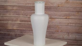 Middle Kingdom Porcelain Power Vase, White