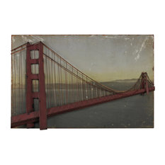 Sterling Golden Gate Bridge-Golden Gate Bridge, Set On Print 51-10141