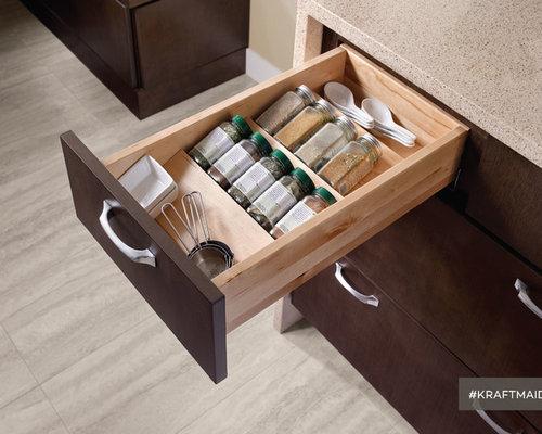 Kraftmaid kitchen bath storage kraftmaid kitchen spice drawer insert kitchen drawer organizers workwithnaturefo