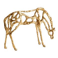 PENSIVE Sculpture Statue CYAN DESIGN Transitional Gold Iron