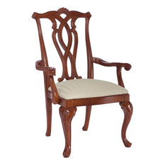 American Drew Cherry Grove Pierced Back Arm Chair Set Of 2