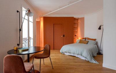 Avant/Après : Effets de rideau pour un studio parisien de 35 m2