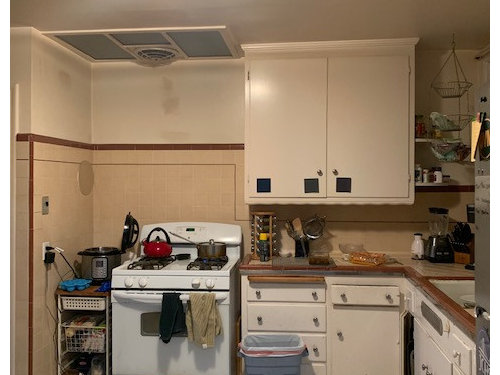 Ugly Kitchen Tiles Need Paint Color Suggestions