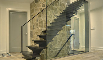 Custom Staircase with Glass Railings
