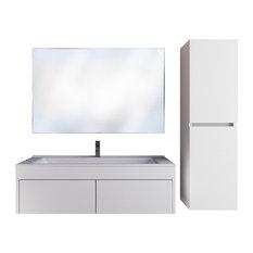 Wall Mount Bathroom Vanity Set 26'' Eco White Single Sink, Calton