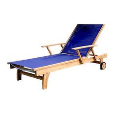 Cayman Teak Outdoor Chaise Lounger