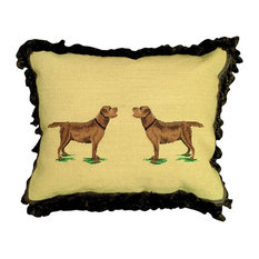 Throw Pillow Needlepoint/Petit Point
