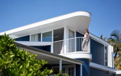 Houzz Tour: Bird's-Eye Views for a Beach Bungalow on Stilts